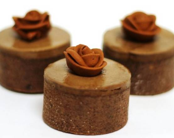 Chocolate Rose Minis by www.OldStyleDesserts.com